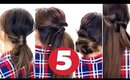 5 Easy LAZY HAIRSTYLES ★|  Everyday Hairstyle for Long Medium Hair