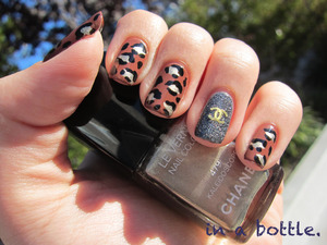 Chanel leopard nails @gemsinabottle