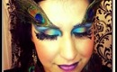 Exotic Peacock Makeup   NYX FACE AWARDS 2013 ENTRY! Maquillaje Pavoreal