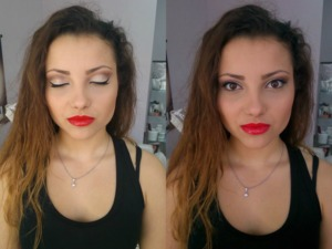 this is Stefania who is studying because she wanna be a makeup artist! do you like her makeup?
