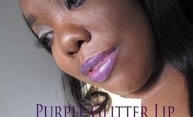 My Purple Glitter LIps.....