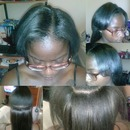 sew-n on African American hair