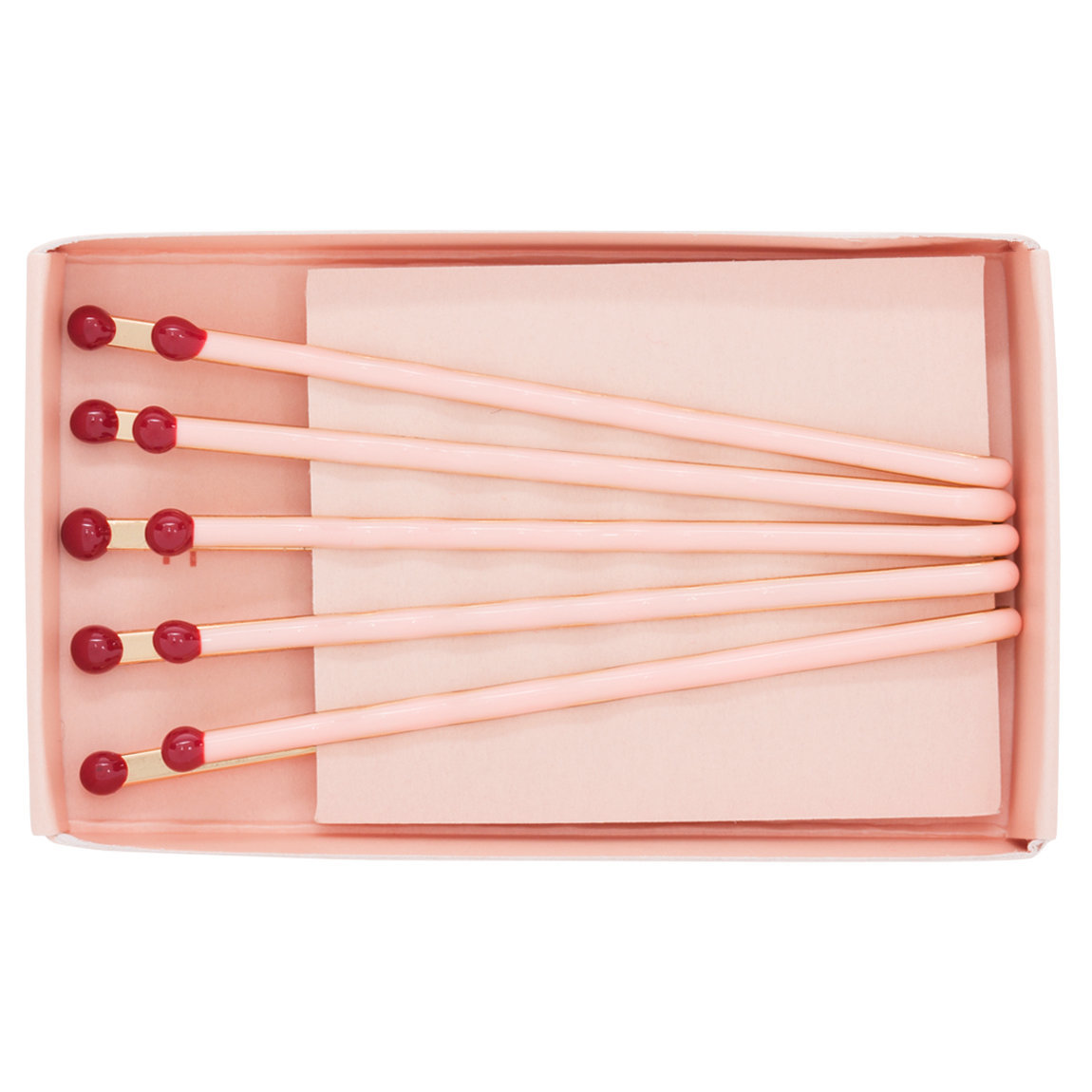 Pop & Suki Matchbox Bobby Pins Pink with Red