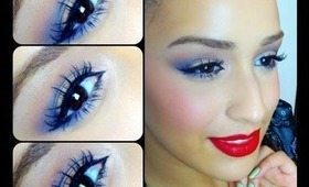 Gold and Navy eyeshadow tutorial