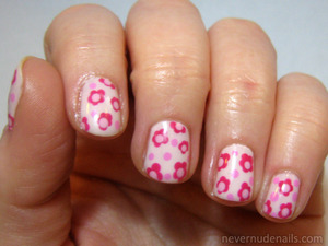 Flowers using polishes from China Glaze Ombre Sweet Sensations kit. Angel's Breath, Something Sweet, Dance Baby, and Make an Entrance.