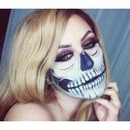 Halloween Half Skull