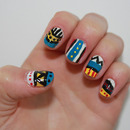 Nail art // tribal print