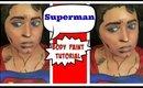 Superman Body Paint Tutorial (NoBlandMakeup)