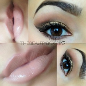 Smokey eye and nude lip