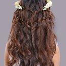 Waterfall braid+ lace braid
