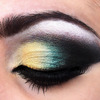 Yellow, Teal eyeshadow
