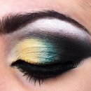 Yellow, Teal eyeshadow