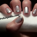 Gorgeous Silver French Tips w/Glitter!!