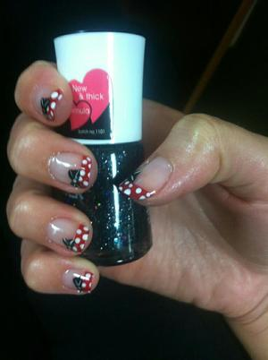 Minnie dots with black bows (: