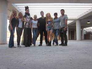 This is our team at a photoshoot...Can you guess who the model is? YES...Models are very tall!!!!!