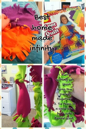 Follow these directions for the best infinity scarf ever! Great for the fall! I love this DIY craft! ☕👌🍂🍁