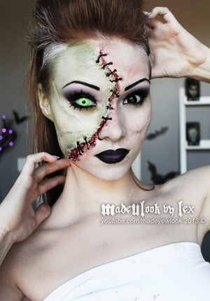 Frankenstein's monster tutorial done using Mehron products! Find the tutorial for this look on my youtube channel, madeyewlook!