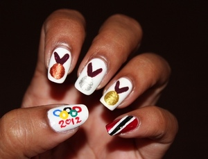 Supporting my local team and raising awareness to our cause. Tweet #I4TANDT http://www.chinadolltt.blogspot.com/2012/07/patriotic-olympics-nails.html