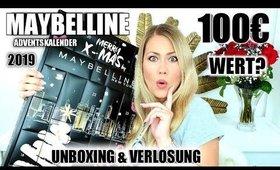 Maybelline Adventskalender 2019   UNBOXING & VERLOSUNG