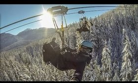 Zip lining in Whistler | Exploring Gastown - A Global Stroll Vlog
