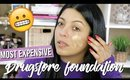 MOST EXPENSIVE DRUGSTORE FOUNDATION REVIEW + FIRST IMPRESSIONS | REVLON INSTA FILTER FOUNDATION