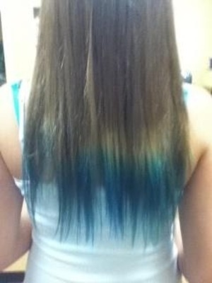 I dip dyed my hair and I love it. This is it. I used splat hair dye and got it done at my hair salon. If your thinking about getting it done...do it.(: