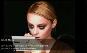 Halloween make-up tutorial - bloody tears vampire.mpg