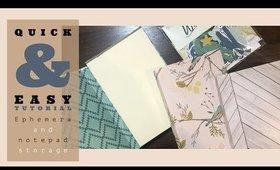 Book/Ephemera Storage Tutorial