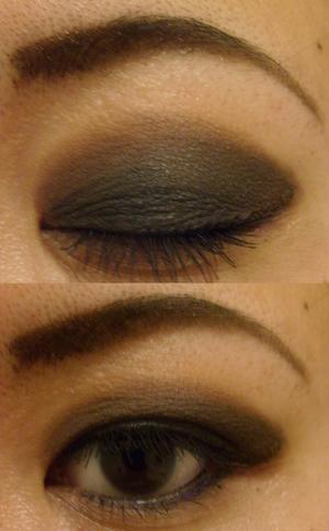 simple brown smokey eye look