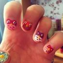 owl nails:))