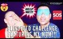 BLINDFOLD Cleansing Routine Makeup Challenge | mathias4makeup