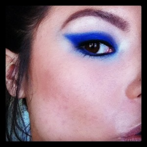 Smokey Blue Eye demo look for Sweet Sin Couture photo shoot