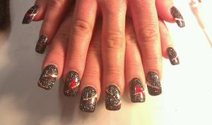 christmas nails for a client.