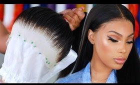 HOW TO CUSTOMIZE  AND PLUCK  LACE FRONTAL WIG