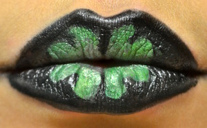 Using OCC liptars, Ben Nye cream color.  details found: http://www.beautywithatwistblog.com/2013/03/happy-st-patricks-day.html