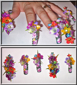 Extreme nail art...not for everyday wear but for nail art competitions