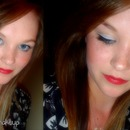 double liner + red lips