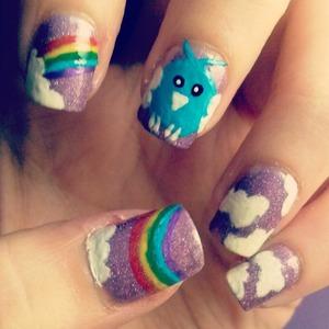 Swablu nail art :)