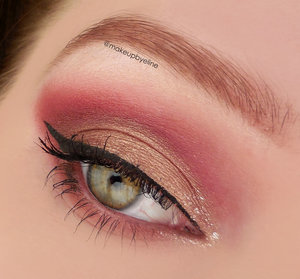 @makeupbyeline. I used the i heart chocolate palette by makeup revolution.