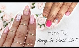 How To Recycle Nail Art | Inspired by Mananails ♡