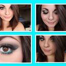 Gold and Blue Smokey eyes