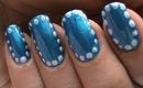 Snow Nail Tutorial - Dotted Snowball winter nail art Cute Nail Polish Nails Designs DIY Tutorial