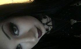 GRWM - Black and Red Vampy Makeup