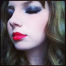 Smokey Eye and Red Lips