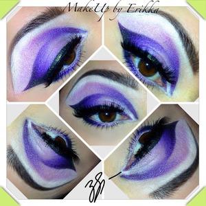 Vibrant Violet. Arabic Liner, cut crease