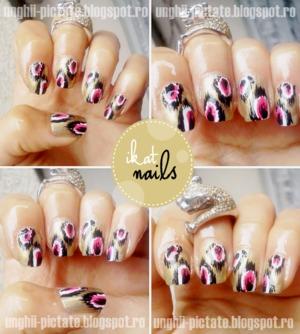 my super cute ikat nails