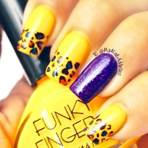 Polish Used: ~Funky Fingers- Like Clockwork ~Funky Fingers- Riot ~Pure Ice- Cheatin