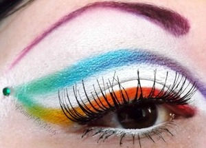 A rainbow look I did for a collab I hosted on my fb page.