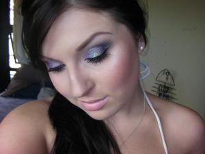 Wearing my latest Tutorial look - Purple Glitter