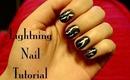 Lightning Nail Tutorial ☁